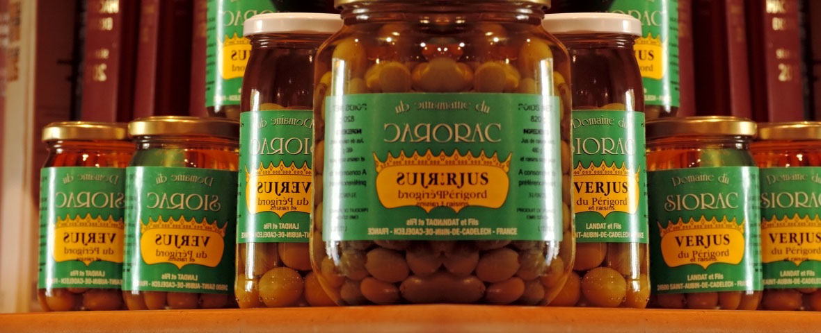 Le Verjus du Périgord du Domaine du Siorac, un produit utilisée en gastronomie