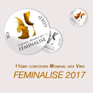 """Médaille de Bronze Féminalise 2017 - vin blanc moelleux """"Vieilles Vignes"""" 2016"""
