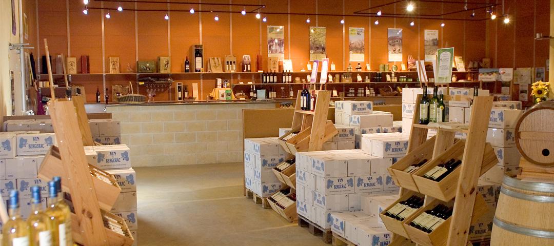 Magasin, lieu d'accueil et de vente du vignoble du Domaine du Siorac