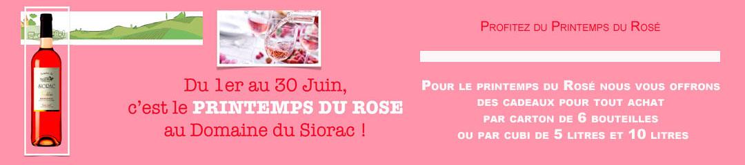 Le printemps du rosé AOC Bergerac au Domaine du Siorac