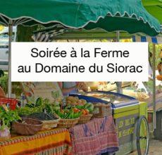 Soirée à la ferme du Domaine du Siorac avec ses vins AOC bergerac, des produits du terroir et une animation musicale