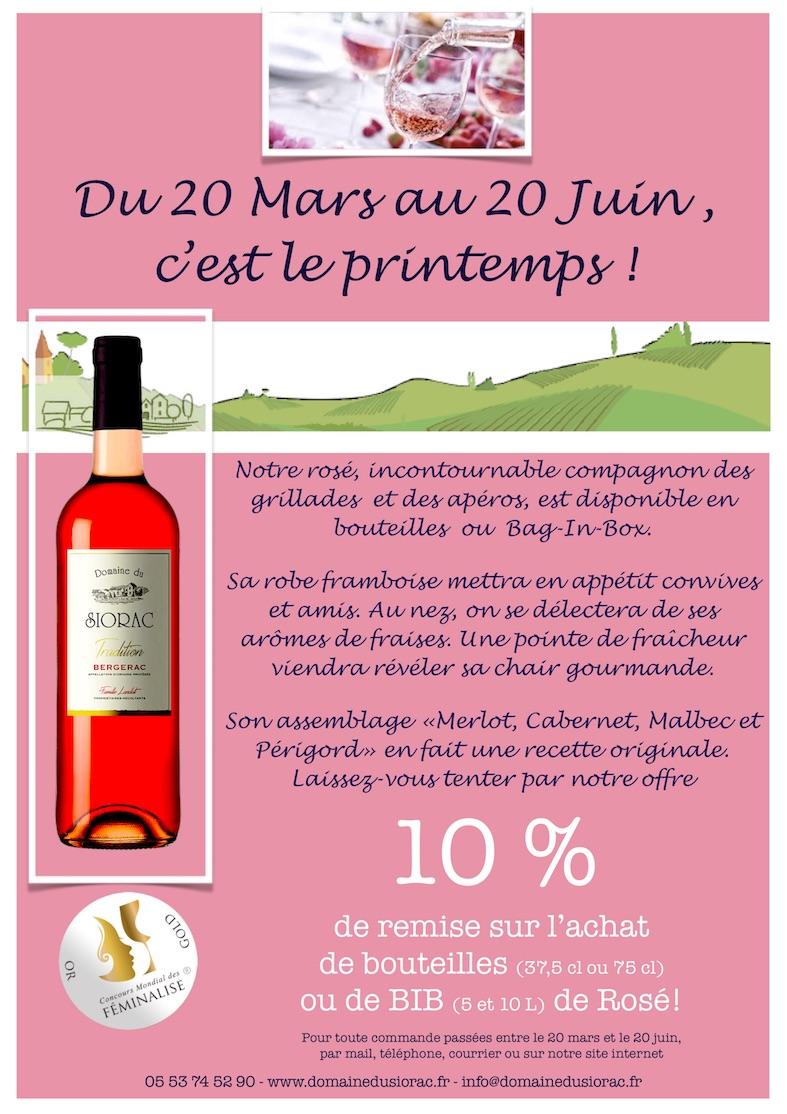 Promotion Rosé de bergerac Bio HVE promotion