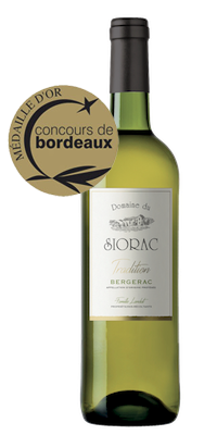 Médaille Or Blanc Sec AOC Bergerac 2016 Domaine du Siorac